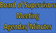 Board of Supervisors Meeting Minutes